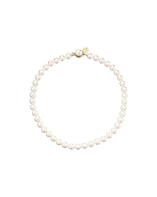 Majorica - Metallic 1 Row 8mm Pearl Necklace (gold/white) Necklace - Lyst