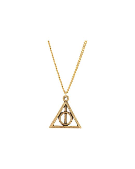 ALEX AND ANI - Metallic Harry Potter Deathly Hallows Expandable Necklace (rafaelian Gold) Necklace - Lyst