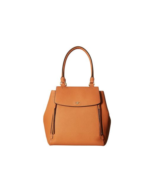 Tory Burch - Brown Half-moon Tote (black) Handbags - Lyst