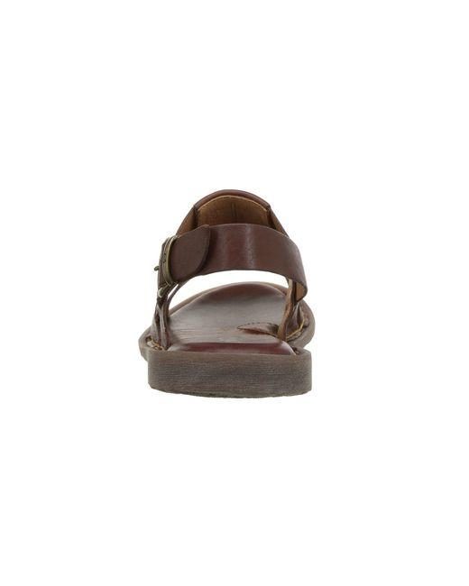 74acbc9349c60e ... Lyst Born - Brown Surf (black Full Grain Leather) Men s Sandals ...