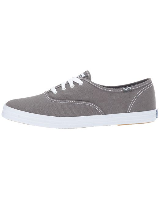 005eea287 ... Keds - Gray Champion-canvas Cvo (graphite) Women s Lace Up Casual Shoes  for ...
