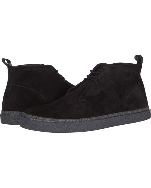 Fred Perry Black Hawley Suede for men