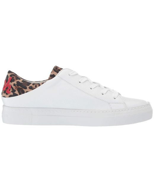 f71571553cec ... Paul Green - Ajay Sneaker (white Leopard Combo) Women's Lace Up Casual  Shoes ...