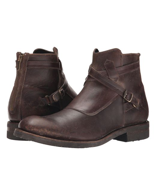 Frye - Brown Stone Cross Strap for Men - Lyst