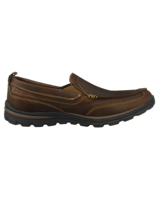 65588c6d54d8 ... Skechers - Brown Relaxed Fit Superior - Gains (black) Men s Slip On  Shoes for ...