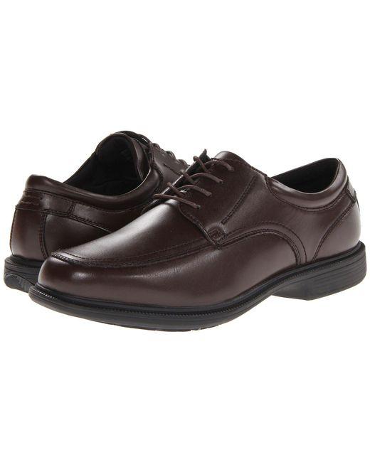 Nunn Bush - Black Bourbon Street Moc Toe Oxford With Kore Slip Resistant Walking Comfort Technology (cognac) Men's Lace Up Moc Toe Shoes for Men - Lyst