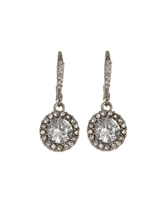 Betsey Johnson | Metallic Cz Drop Earrings | Lyst