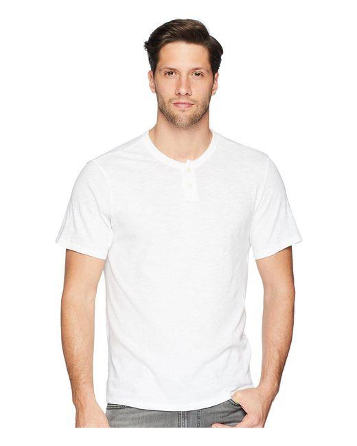 Joe's Jeans - White Wintz Short Sleeve Slub Henley (vintage Blue) Men's Clothing for Men - Lyst