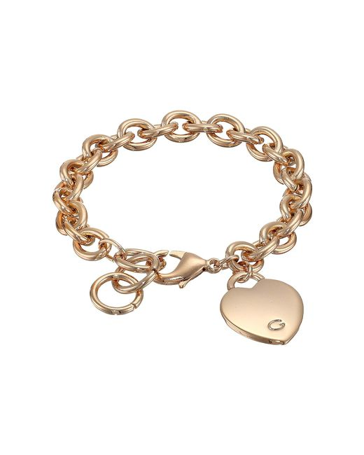 Guess - Metallic Heart Bracelet - Lyst