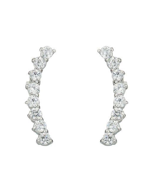 Vince Camuto - Metallic Cubic Zirconia Thin Stud Earrings (silver) Earring - Lyst