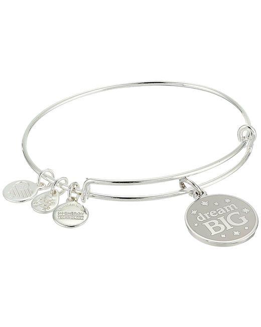ALEX AND ANI - Metallic Words Are Powerful Dream Big Bangle (shiny Silver) Bracelet - Lyst