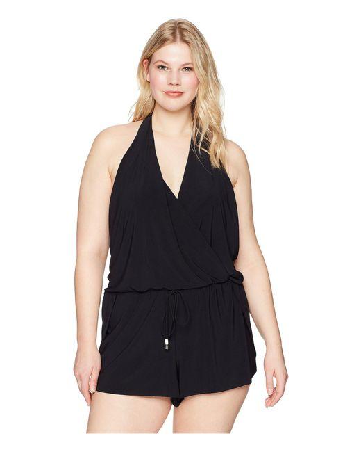 d1ee51b1a54 Magicsuitr - Plus Size Solid Bianca One-piece (black) Women s Swimsuits One  Piece ...