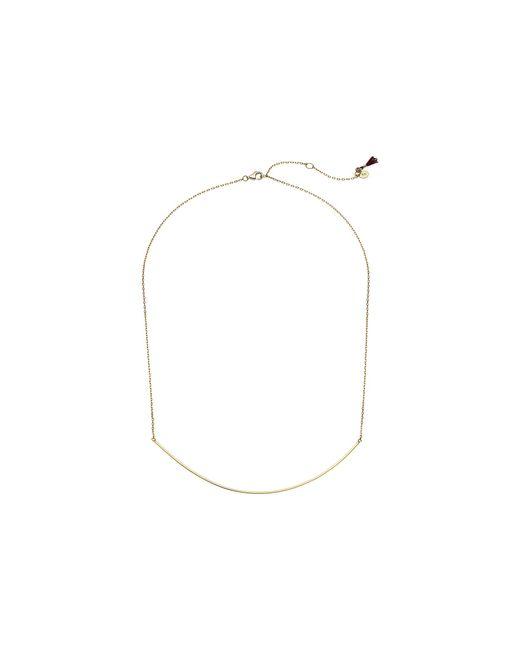 Shashi - Metallic Xl Bar Necklace (gold) Necklace - Lyst