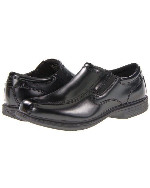 Nunn Bush - Black Bleeker Street Bicycle Toe Slip-on With Kore Slip Resistant Walking Comfort Technology (brown) Men's Slip On Shoes for Men - Lyst