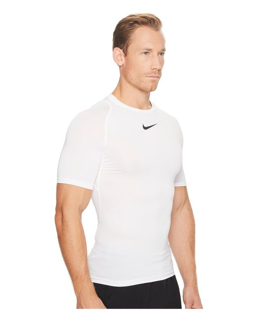 a62882be ... Nike - Pro Compression Short Sleeve Training Top (black/white/white)  Men's