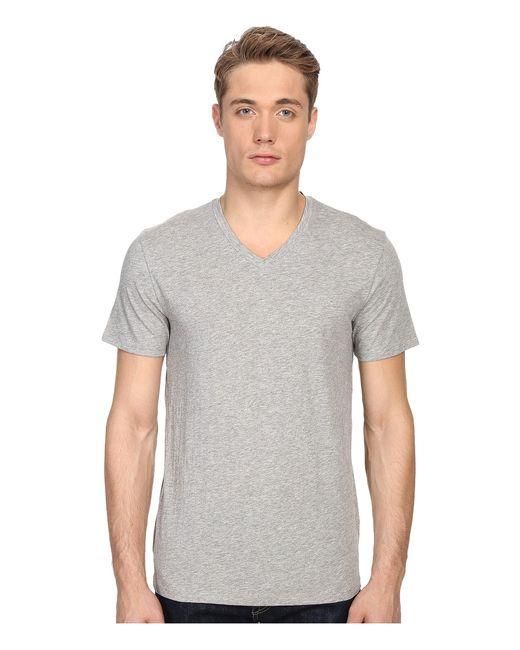 Vince Gray Short-sleeve V-neck Pima Jersey T-shirt for men