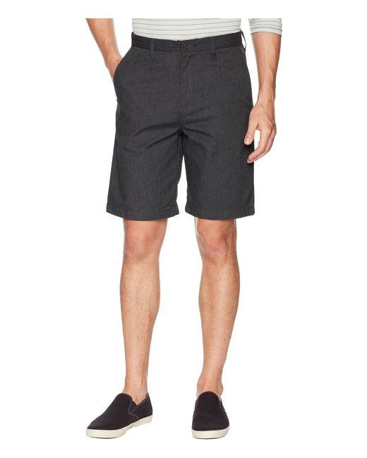 Billabong Black Carter Stretch Shorts for men