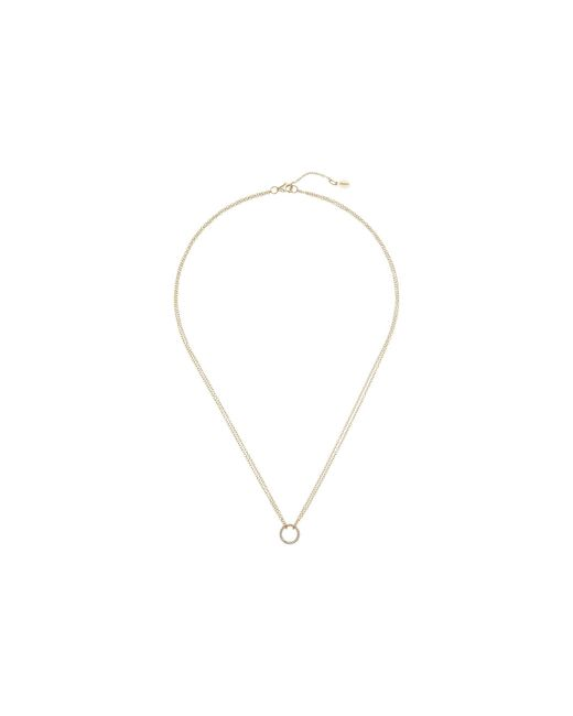 Shashi - Metallic Circle Pave Pendant Necklace (gold/vermeil) Necklace - Lyst