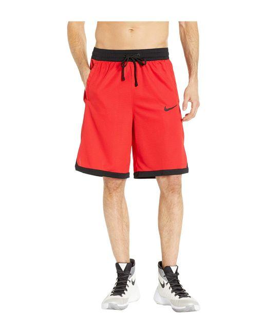 41b11659d8cd Lyst - Nike Dry Elite Shorts Stripe (black white white white) Men s ...
