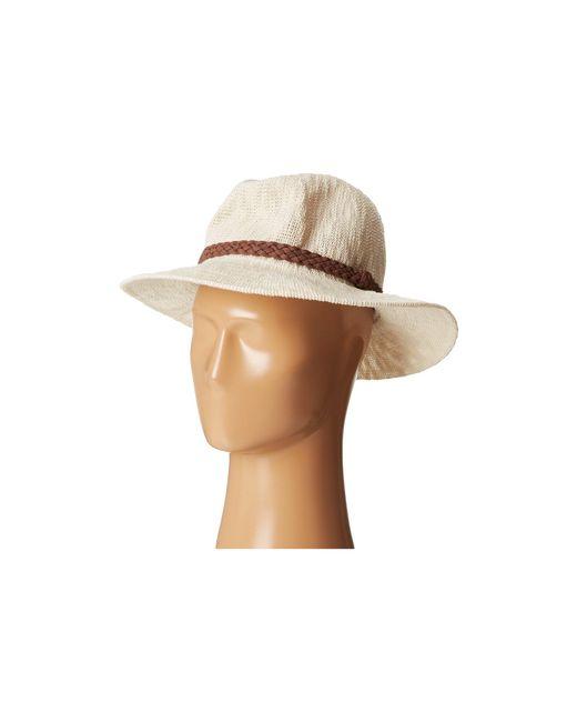 San Diego Hat Company   White Knh8008 Machine Knit Fedora W/ Braided Suede Trim   Lyst