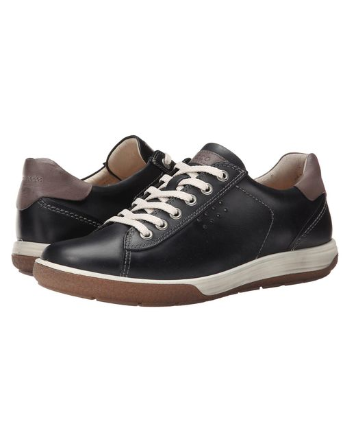 Ecco - Chase Ii Tie (black/dark Clay) Women's Lace Up Casual Shoes - Lyst