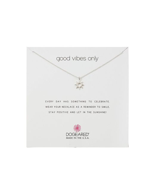 Dogeared - Metallic Good Vibes Only, Radient Sun Pendent Necklace (silver) Necklace - Lyst