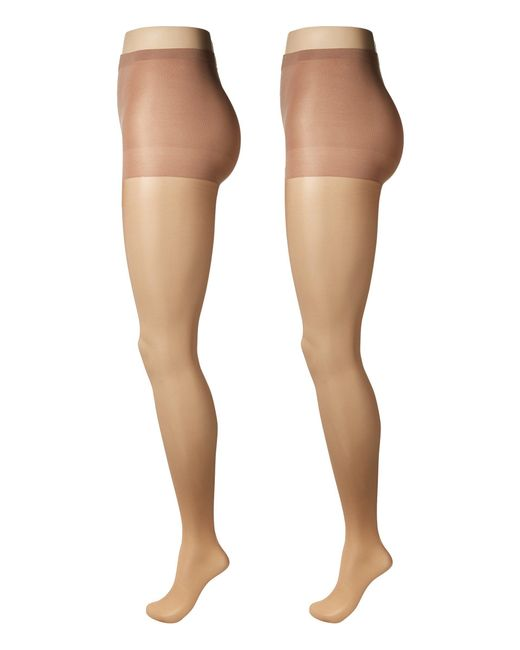 Calvin Klein - Natural Sheer Pantyhose With Control Top 2-pair Pack (black) Hose - Lyst