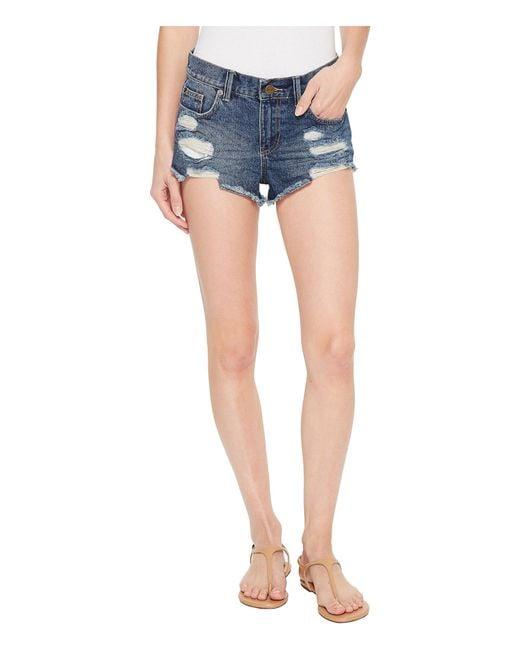 Amuse Society - Blue On The Run Denim Shorts (ink) Women's Shorts - Lyst
