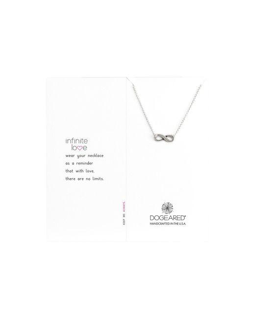 "Dogeared - Metallic Infinite Love Necklace 16"" - Lyst"