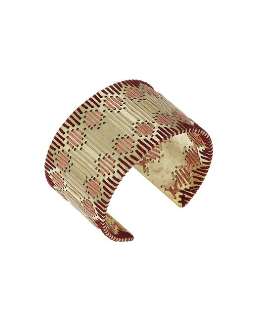 Lucky Brand - Metallic Threaded Statement Cuff Bracelet (gold) Bracelet - Lyst