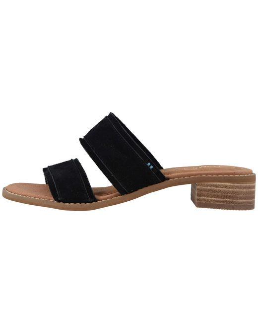 ce1b9a0d5dbd Lyst - TOMS Mariposa (black Suede) Women s Sandals in Black