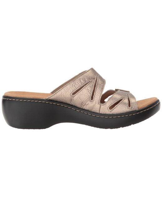 993ac3b7b04 ... Lyst Clarks - Multicolor Delana Liri (dark Tan Leather) Women s Shoes  ...