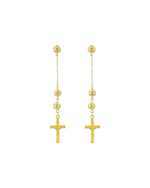 Vanessa Mooney - Metallic The Faith Cross Earrings (gold) Earring - Lyst