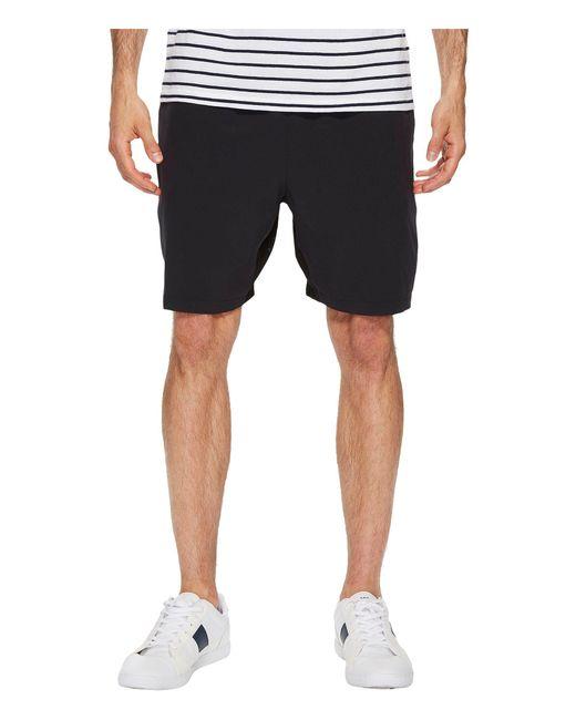 Lacoste - Black Stretch Taffeta Shorts for Men - Lyst
