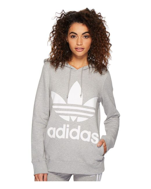 Adidas Originals - Gray Trefoil Hoodie (collegiate Green) Women s Long  Sleeve Pullover ... 2584783e84