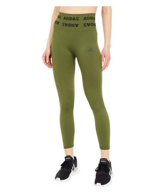 Adidas Green Aeroknit 7/8 Tights Casual Pants