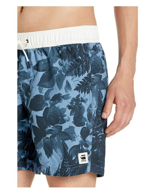26f5c3eac4317 G-Star RAW Dirik All Over Swim Shorts (delft/dark Navy All Over ...