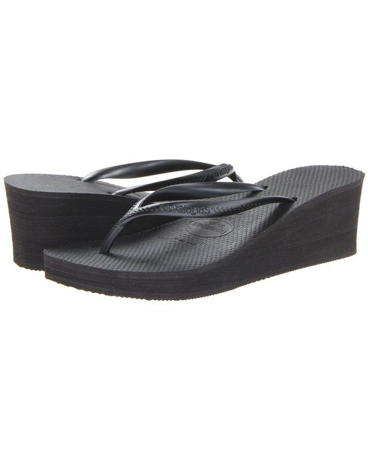 Havaianas - Black High Fashion Flip Flops - Lyst