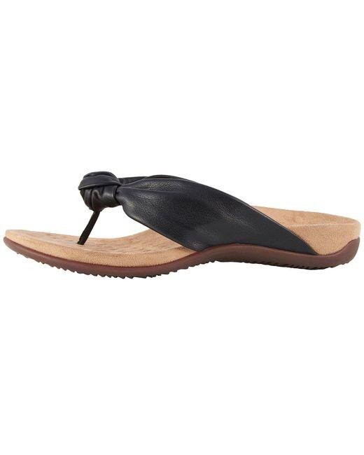 c989cb57c87 Lyst - Vionic Pippa Thong Sandal in Black - Save 6.756756756756758%
