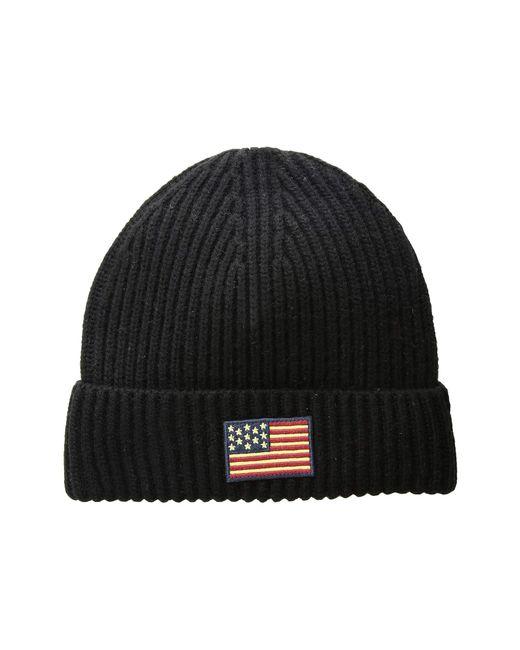 Polo Ralph Lauren - American Flag Cuff Hat (black) Caps for Men - Lyst c2f1cd4d9d9b