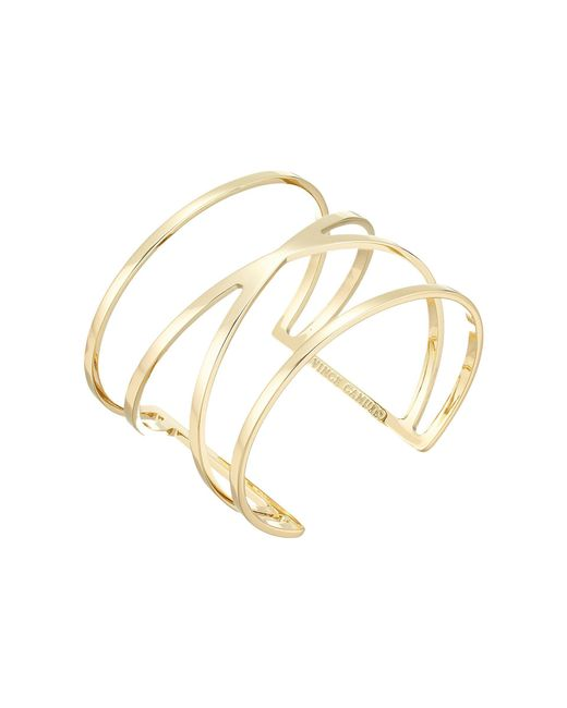 Vince Camuto - Metallic Double V Cuff Bracelet (silver) Bracelet - Lyst