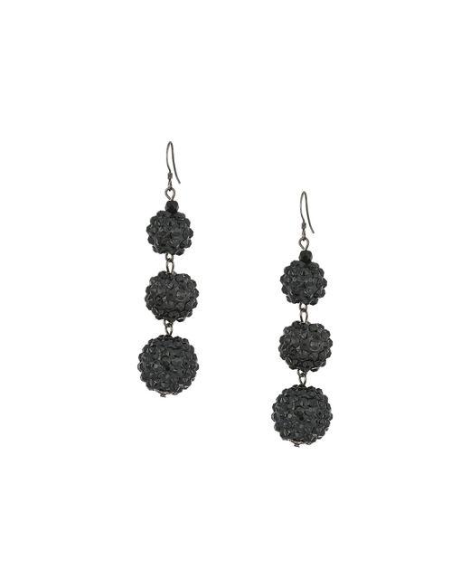 Kenneth Jay Lane - Black 3 Ball Drop Fishhook Earrings (hematite) Earring - Lyst