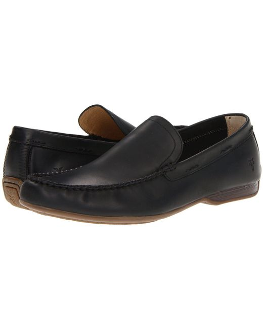 Frye - Lewis Venetian (black Antique Pull Up) Men's Slip On Shoes for Men - Lyst
