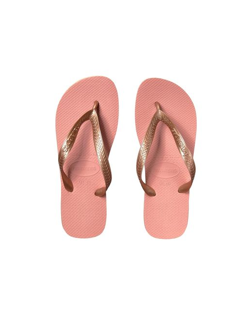 Havaianas TOP TIRAS Womens Ladies Summer Beach Rubber Flip Flops Rose Nude Pink