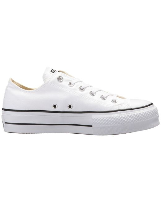858858d10bcd Lyst - Converse Chuck Taylor All Star Lift Ox in White - Save 25.0%