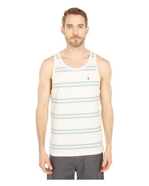 Volcom White Yewbisu Tank Top Clothing for men
