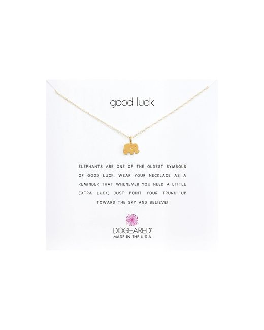 Dogeared Metallic Good Luck Elephant Reminder Necklace
