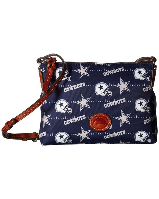 Dooney & Bourke - Blue Nfl Nylon Crossbody Pouchette (navy/tan/broncos) Cross Body Handbags - Lyst