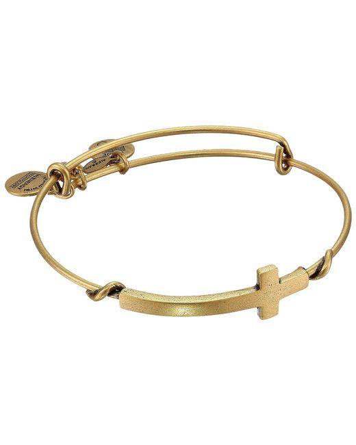 ALEX AND ANI - Metallic Cross Wrap (rafaelian Gold Finish) Bracelet - Lyst