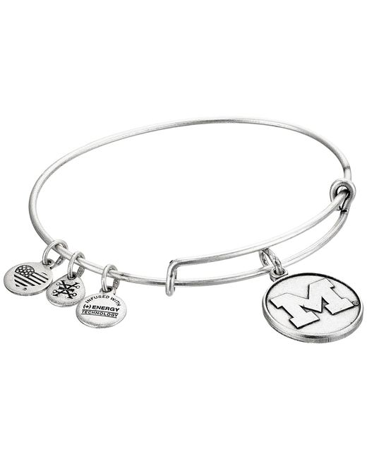 ALEX AND ANI - Metallic University Of Michigan (rafaelian Silver) Bracelet - Lyst